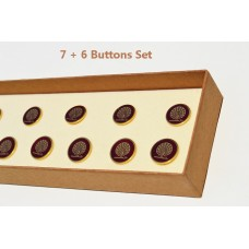 Maroon Peacock Button set of 13